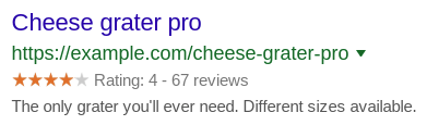 Cheese grater pro - An example of Rich Snippet stars